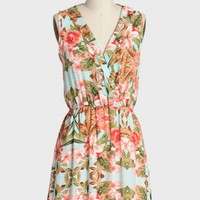 garden walk floral dress at ShopRuche.com