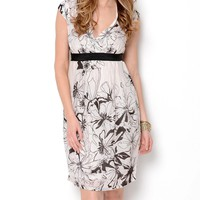 Papillon Two-Tone Floral Dress - The Dress Shop - Modnique.com