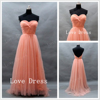 Charming sweetheart neckline tulle prom dress/Graduation Dresses