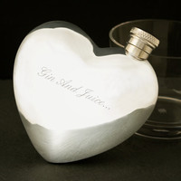 Heart Shaped Pewter Hip Flask at Firebox.com