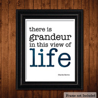 VIEW of LIFE Charles Darwin Quote by JaneAndCompanyDesign on Etsy