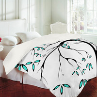 Madart Inc. Garden Delight Aqua Breeze Duvet Cover