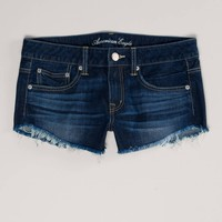 AE Frayed Denim Festival Shortie | American Eagle Outfitters