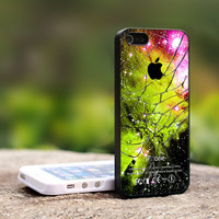 Galaxy Nebula Cracked Out Glass iPhone 5 Case, iPhone 4 Case, iPhone 4s Case, iPhone 4 Cover, Hard iPhone 4 Case