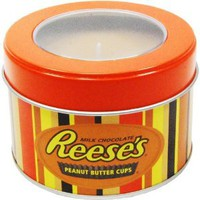 Amazon.com: Mostly Memories Hershey's Reeses 5-Ounce Window Tin Soy Candle: Home & Kitchen