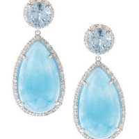 Jade &amp; Cubic Zirconia Earrings