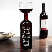 Big Mouth Toys Ultimate Wine Bottle Glass