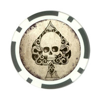 Poker chip card holder, Death Ace