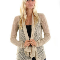 Billabong Bent Sweater in Oatmeal Heather