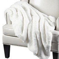 Chinchilla Throw - White | Throws | Bedding-and-pillows | Z Gallerie