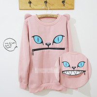 Sudadera Boca Gato / Cat Mouth Sweatshirt 2WH217