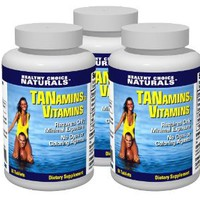Tanamins Tanning Vitamin-Get a Darker Tan in Half the Time Without Expensive Tanning Beds (3 bottles/180 count)