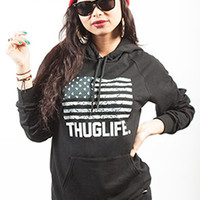 Breezy Excursion Thuglife Hoodie Black Womens
