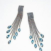 [52.99] Unique Alloy Rhinestone Crystal Drop Blue Earrings - Dressilyme.com