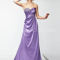 Alluring A-line Sweetheart Neckline Sequins Floor Length Satin Bridesmaid Dress -SinoSpecial.com