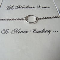 Mothers Day Necklace, Mothers Day Gift, Never Ending Love Chain, Eternity Necklace