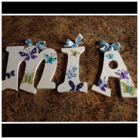 Nojo Beautiful Butterfly Custom Name by CuteNCustom on Etsy