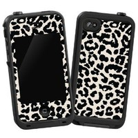 Black and White Leopard &quot;Protective Decal Skin&quot; for LifeProof 4/4S Case