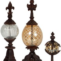 Patricia Finials - Set of 3 - Table Accents - Home Accents - Home Decor | HomeDecorators.com