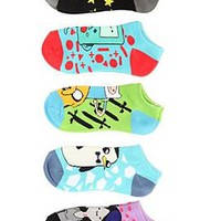 Adventure Time Finn Sword No-Show Socks 5 Pair - 377956