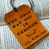 $20.00 Leather Luggage Tag  Harry Potter J.K. Rowling by CoastalMaineCreation