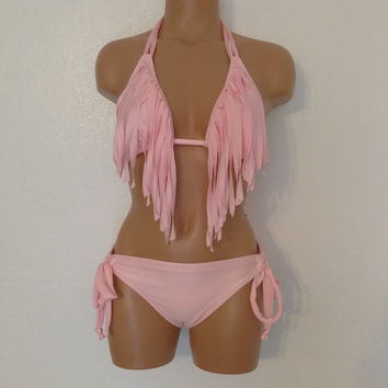 Fringe swimsuit by LoveLucyBea on Etsy