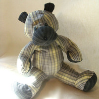 Memory Keepsake Teddy Bear Recycled Dress Shirt by earthluv