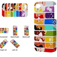 ALL PRINCESS Iphone 5 case Iphone 4 4s case 3D