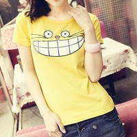 cat Casual short-sleeved T-shirt