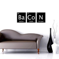 BACON vinyl wall decal periodic table of elements by EyvalDecal