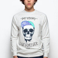 Guys Eternal Youth Crew Neck Raglan - Glamour Kills Clothing