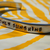my only  sunshine aluminum bracelet 1/4 inch wide