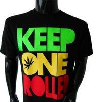 Wiz Khalifa Keep One Rolled Mens T-Shirt (Medium) - Black