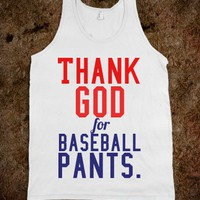 Thank god for baseball - Happy Friday - Skreened T-shirts, Organic Shirts, Hoodies, Kids Tees, Baby One-Pieces and Tote Bags
