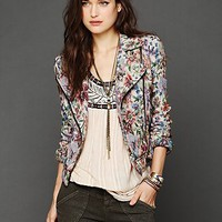 Free People Tapestry Moto Jacket