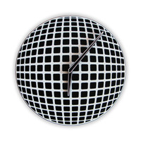 Optical Illusion Sphere Wall Clock by walldecoration on Etsy