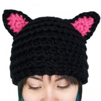 Handmade Gifts | Independent Design | Vintage Goods Crocheted Kitty Hat - New Arrivals