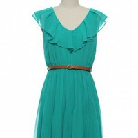Comfortably Chic Dress in Teal