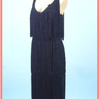 60's Lilli Diamond Flapper Style Black Fringe Cocktail Dress-Plus Size Vintage Dresses