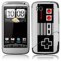 HTC Skin Cover  NES Nintendo Remote by stickitskins on Etsy