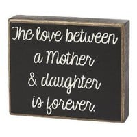 Collins A Mother and Daughter Decorative Box Sign