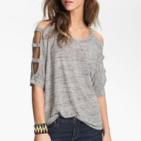 Lush Lattice Sleeve Tee (Juniors) | Nordstrom