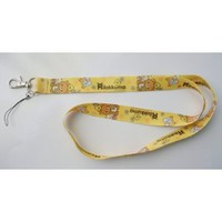 Amazon.com: Cute Yellow Rilakkuma Bear Cell Phone Key ID Badge Lanyard: Everything Else