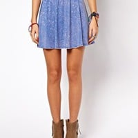ASOS Skater Skirt in Acid Wash at asos.com
