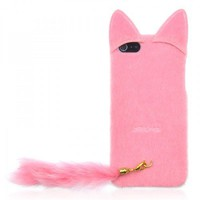 Fluffy Cat with Tail Case for iPhone