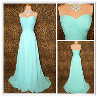 WowDresses  Elegant AQUA GRACE TIMELESS GLAMOUR PROM DRESS
