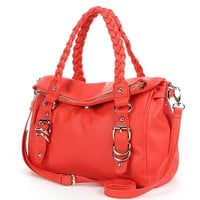 Apt. 9 Brady Braided Fold-Over Convertible Satchel