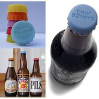 Beer Savers - Silicone Rubber Bottle Caps: Kitchen & Dining
