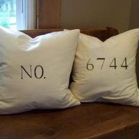 entryway/porch pillows customizable your numbers by jennilyons81