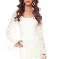 Fleur de Lisa Dress in Ivory :: tobi
